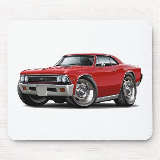 Coche 1966 del rojo de Chevelle Tapete De Ratones