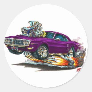 Coche 1967-68 de la púrpura de Firebird Etiquetas Redondas