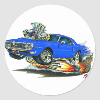 Coche 1967-68 del azul de Firebird Etiqueta Redonda