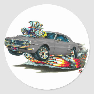 Coche 1967-68 del gris de Firebird Pegatina Redonda