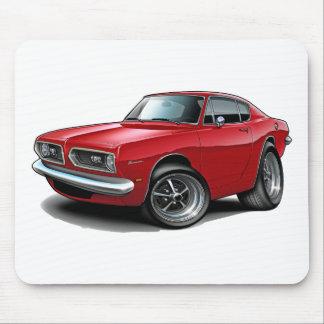 Coche 1967-69 del rojo del Barracuda Tapete De Ratón
