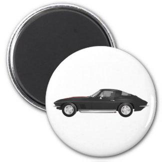 Coche 1967 de deportes del Corvette: Acabado en ne Imán Redondo 5 Cm