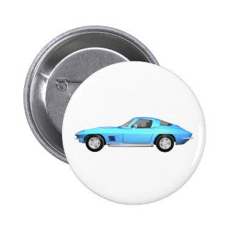 Coche 1967 de deportes del Corvette Final azul Pins