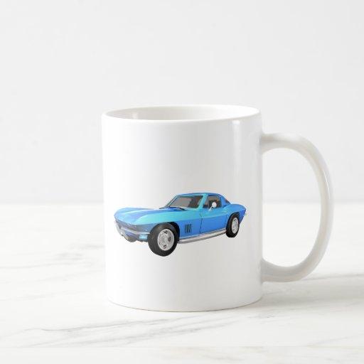 Coche 1967 de deportes del Corvette: Final azul: Taza De Café