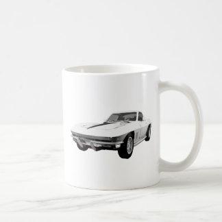 Coche 1967 de deportes del Corvette Final blanco Taza