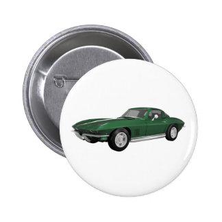 Coche 1967 de deportes del Corvette Final verde Pin