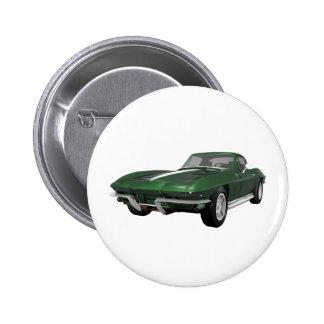 Coche 1967 de deportes del Corvette Final verde Pins