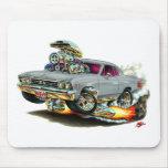 Coche 1967 del gris de Chevelle Tapete De Ratones