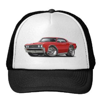 Coche 1967 del rojo de Chevelle Gorros Bordados