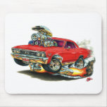 Coche 1967 del rojo de Chevelle Tapetes De Ratón