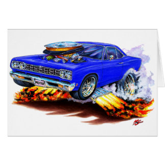 Coche 1968-69 del azul del Roadrunner Tarjetas