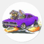 Coche 1968-70 de la púrpura del cargador etiqueta