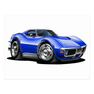 Coche 1968-72 del azul del Corvette Postales