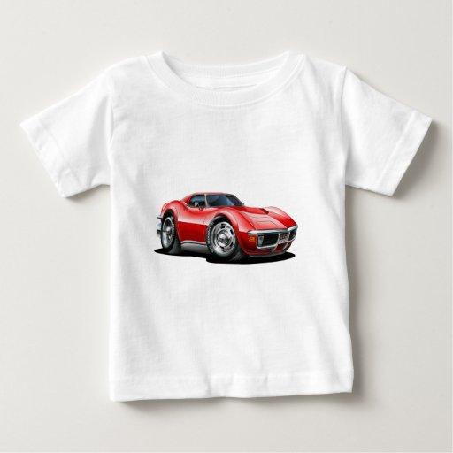 Coche 1968-72 del rojo del Corvette Polera
