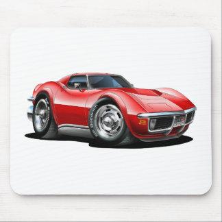 Coche 1968-72 del rojo del Corvette Tapetes De Raton