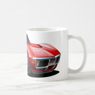 Coche 1968-72 del rojo del Corvette Taza De Café
