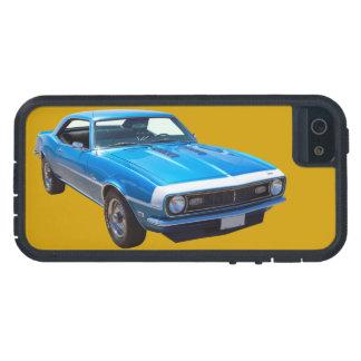 Coche 1968 del músculo de Chevrolet Camaro 327 iPhone 5 Carcasas