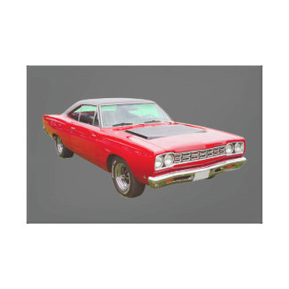 Coche 1968 del músculo del Roadrunner de Plymouth Impresiones En Lona