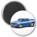 Coche 1969 del azul de Camaro SS Imán Redondo 5 Cm