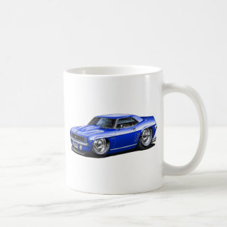Coche 1969 del azul de Camaro Taza De Café