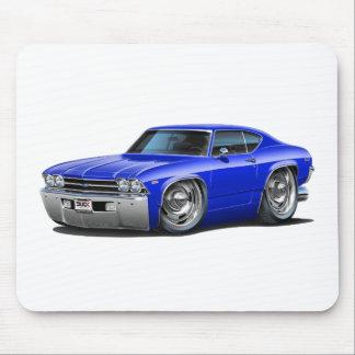 Coche 1969 del azul de Chevelle Alfombrillas De Raton