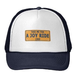 Coche 1969 del paseo de la alegría gorras