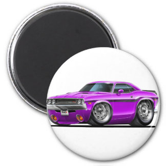 Coche 1970-72 de la púrpura del desafiador imán redondo 5 cm
