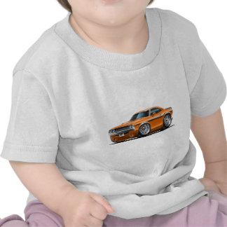 Coche 1970-72 del naranja del desafiador camisetas