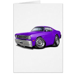 Coche 1970-74 de la púrpura del plumero tarjeta de felicitación