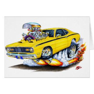 Coche 1970-74 del amarillo del plumero de Plymouth Tarjetas