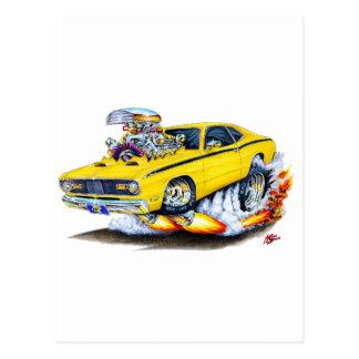 Coche 1970-74 del amarillo del plumero de Plymouth Tarjeta Postal