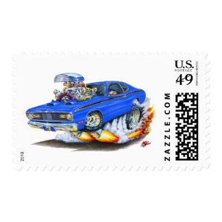 Coche 1970-74 del azul del plumero de Plymouth Envio