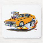 Coche 1970-74 del naranja del plumero de Plymouth Tapetes De Ratones