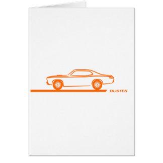 Coche 1970-74 del naranja del plumero tarjeta de felicitación