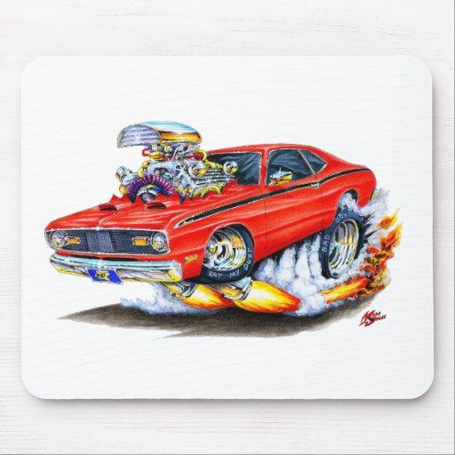 Coche 1970-74 del rojo del plumero de Plymouth Alfombrilla De Ratones