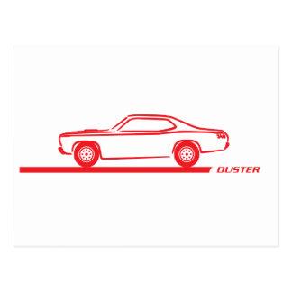 Coche 1970-74 del rojo del plumero tarjeta postal