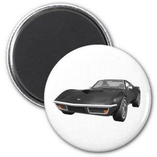 Coche 1970 de deportes del Corvette: Acabado en ne Imán Redondo 5 Cm