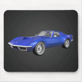 Coche 1970 de deportes del Corvette: Final azul: M Tapetes De Ratón