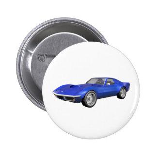 Coche 1970 de deportes del Corvette: Final azul Pins