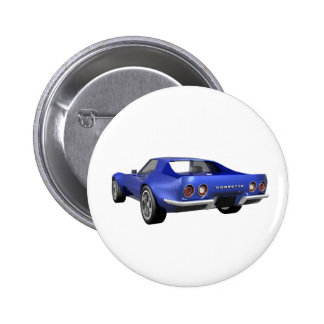 Coche 1970 de deportes del Corvette: Final azul Pin