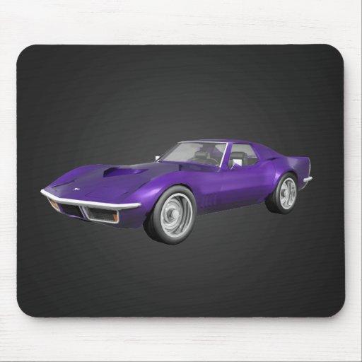 Coche 1970 de deportes del Corvette: Final púrpura Tapetes De Raton
