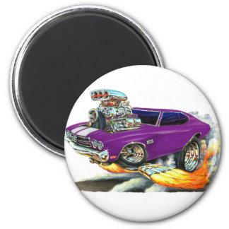 Coche 1970 de la púrpura de Chevelle Imán Redondo 5 Cm