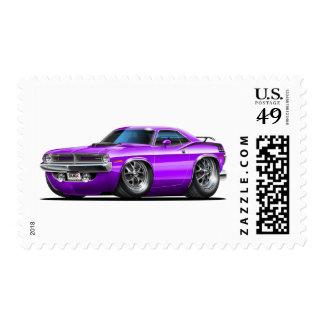 Coche 1970 de la púrpura de Plymouth Cuda Sellos