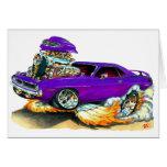 Coche 1970 de la púrpura de Plymouth Cuda Tarjeta