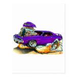 Coche 1970 de la púrpura de Plymouth Cuda Tarjeta Postal