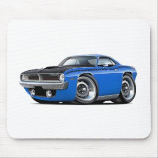 Coche 1970 del azul de Cuda AAR Alfombrilla De Ratones