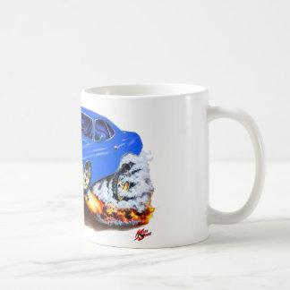 Coche 1970 del azul de Cuda Taza De Café