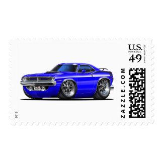 Coche 1970 del azul de Plymouth Cuda Sellos