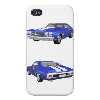 Coche 1970 del músculo de Chevelle: caso del iPhon iPhone 4 Fundas