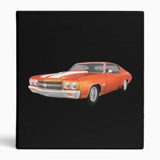 """Coche 1970 del músculo de Chevelle: Final anaranja Carpeta 1"""""""